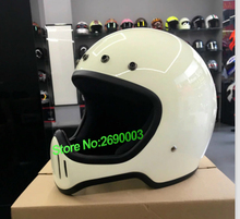2016 new arrival original genuine Japan helmet body retro motorcycle helmet White Colour for big face with different colour