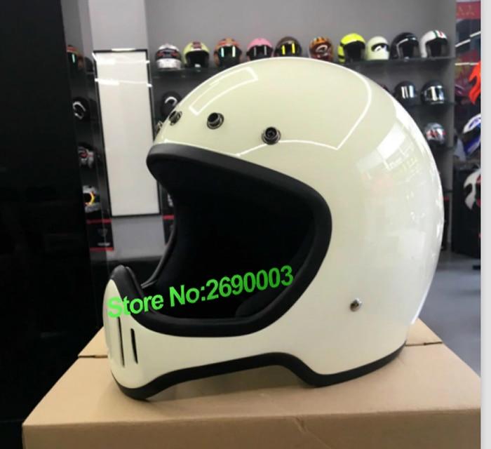 2016 nouvelle arrivée d'origine véritable Japon casque corps rétro moto casque Blanc Couleur pour le grand visage avec couleur différente