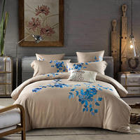 100% Egypt Cotton Embroidery Luxury Bedding set flat/fited sheet King Queen size Bed set Duvet cover Bedsheet Pillowcases embroi