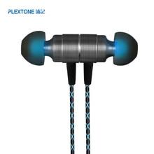 PLEXTONE X41M auriculares estéreo para teléfono móvil, auriculares internos con Control por cable y funda de Metal, micrófono y funda para reproductor MP3