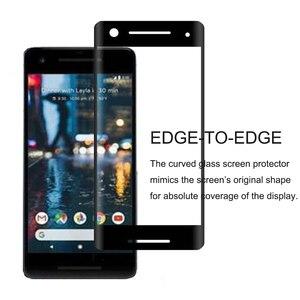 Image 3 - Googleのピクセル2強化ガラス9 h 3dフルカバー防爆曲面スクリーンプロテクターフィルム用のgoogleピクセル2 Pixel2