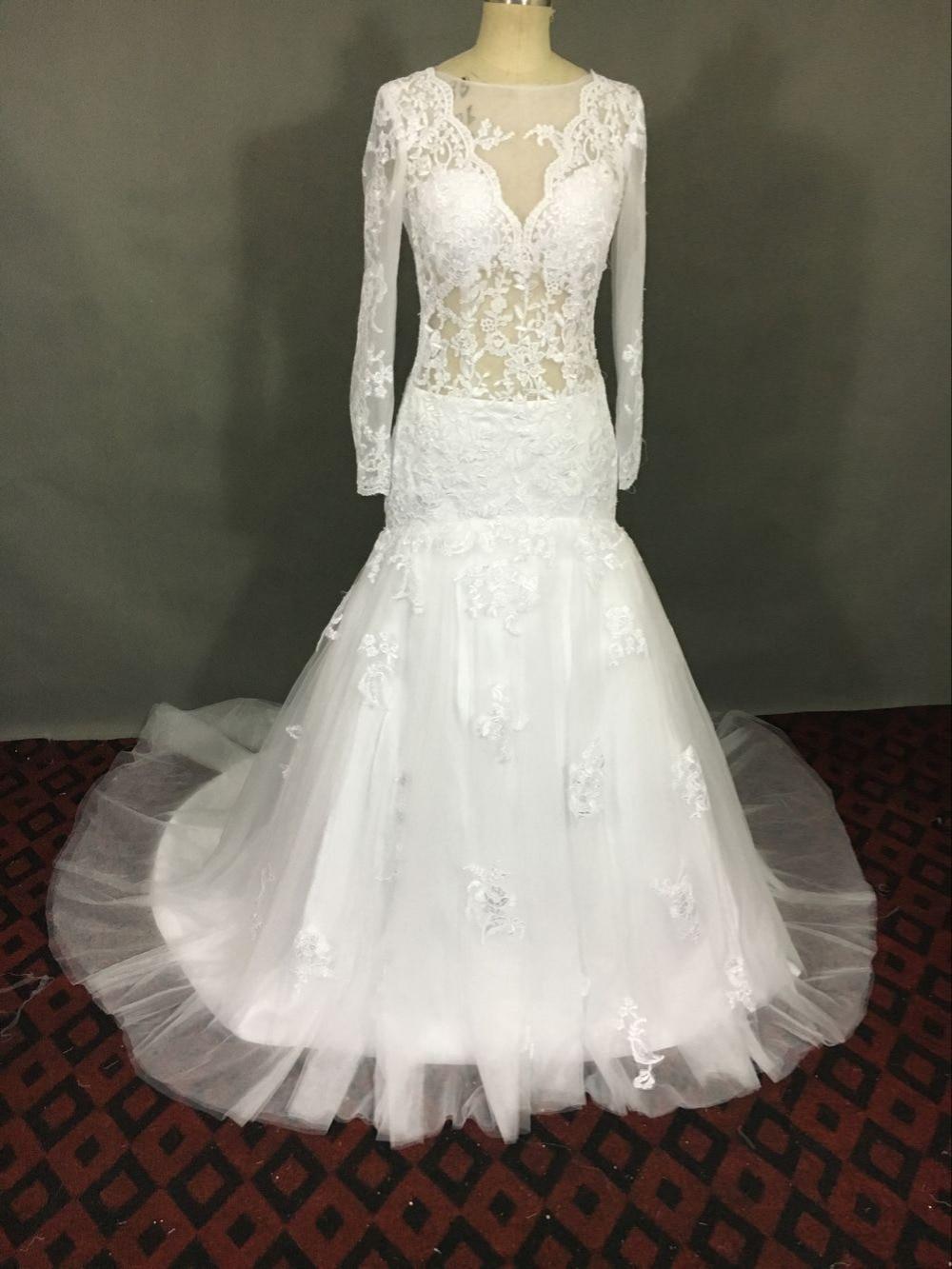 Buy sexy mermaid wedding dress 2017 for See through wedding dresses