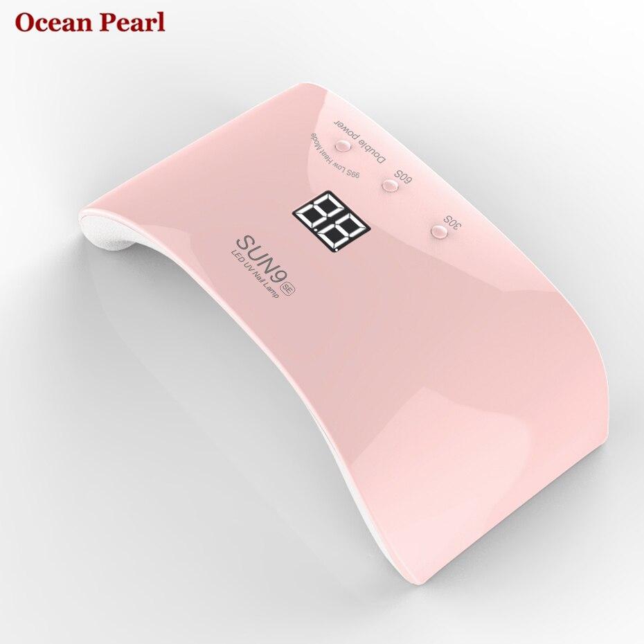 OCEAN PEARL 24W LED UV lamp nail dryer Auto sensor 12pcs leds Double light Nail Lamp