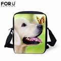 Forudesigns cão animal bonito panda impressão sacos de mulheres mensageiro 3d borboleta pequenos sacos de ombro para senhoras cruzam sacos para corpos