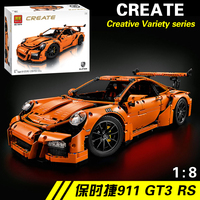 NEW IN STOCK 2704pcs Technic Series 911 GT3 RS Model Building Kits Blocks Bricks Compatible Blocks