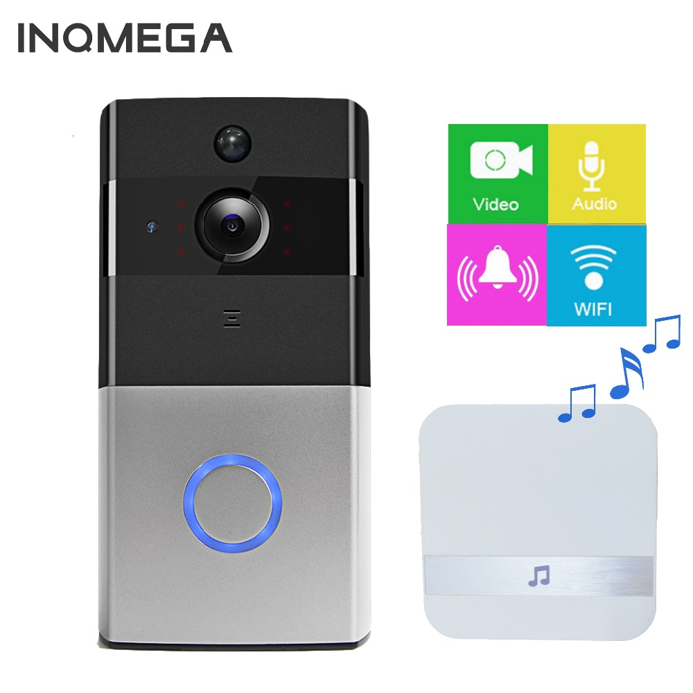 INQMEGA Беспроводной Wi-Fi видео домофон безопасности дома Камера дверной звонок сигнализации удаленного Управление телефон Видеоняни и радион...