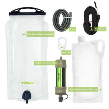 miniwell Gravity Water Purifier with Water Reservoir good for hiking,camping,survival and travel - DISCOUNT ITEM  30% OFF Sports & Entertainment
