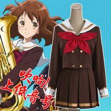 2015 nueva Janpanese anime sound! bombardino Oumae Kumiko cosplay disfraces dos set para marinero uniforme escolar niñas ropa vestidos