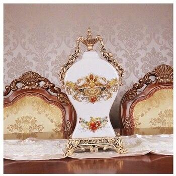 Crack ceramic clock European household sitting room adornment clock when furnishing articles Creative fashion table clock