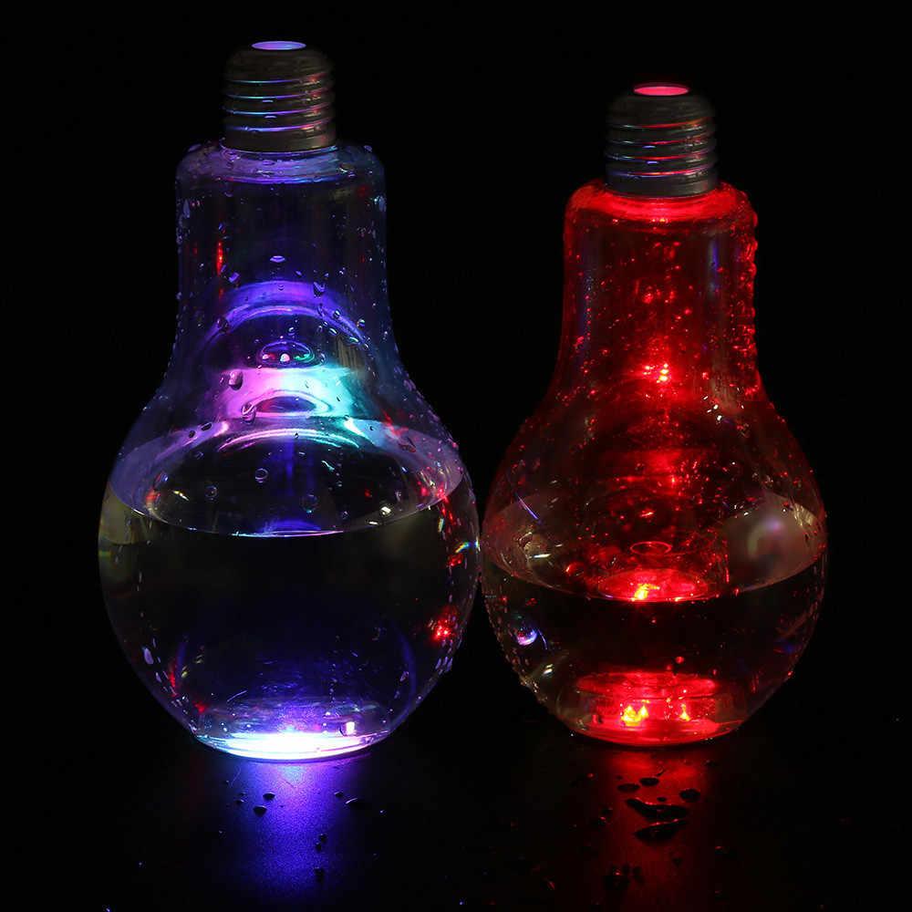 400 ml/500 ml led lâmpada incandescente garrafa de água breve bonito suco de leite lâmpadas vazamento-prova de prata ouro plástico bulbo