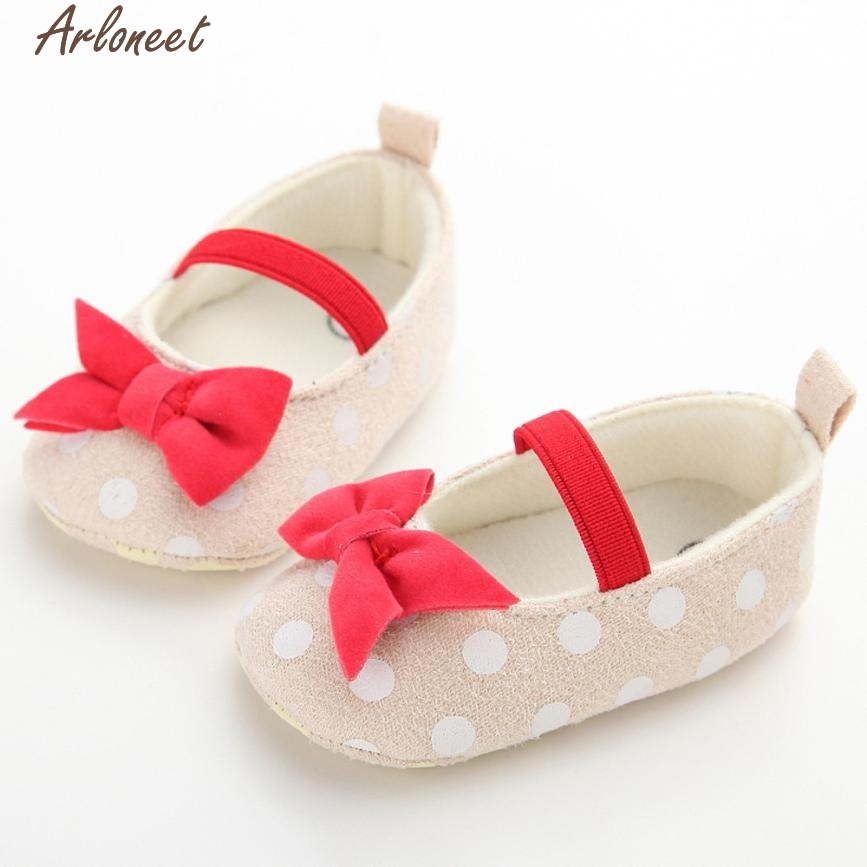 ARLONEET Baby Shoes Dot Butterfly Anti-Slip Soft Toddler Shoes Princess Shoes &