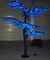 5ft 1.5M LED Artificial Tree Lamp Cherry Tree Red/Blue/Green/White/Pink for Option Holiday, Home, Wedding, Party Decoration