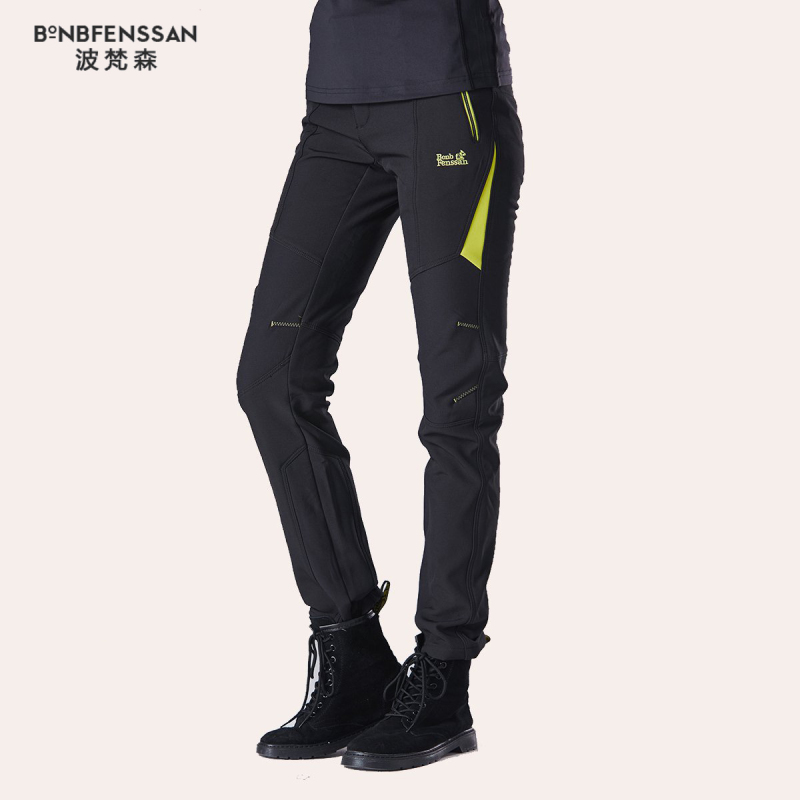 Fashion New Winter Women Hiking Pants Outdoor Softshell Trousers Waterproof Windproof Thermal For Camping Ski Climbing 1817B