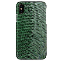Stock 7 Colors Real Natural Genuine Lizard Skin Leather Case For Iphone X 5 8 Luxury