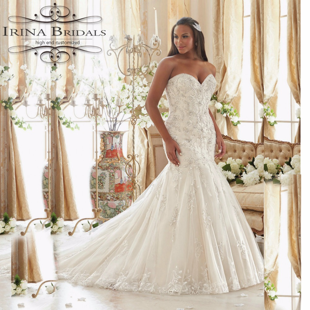 Aliexpress Com Buy Sl 82 Sweetheart Bling Bridal Gowns: Online Buy Wholesale Fishtail Wedding Dress Patterns From