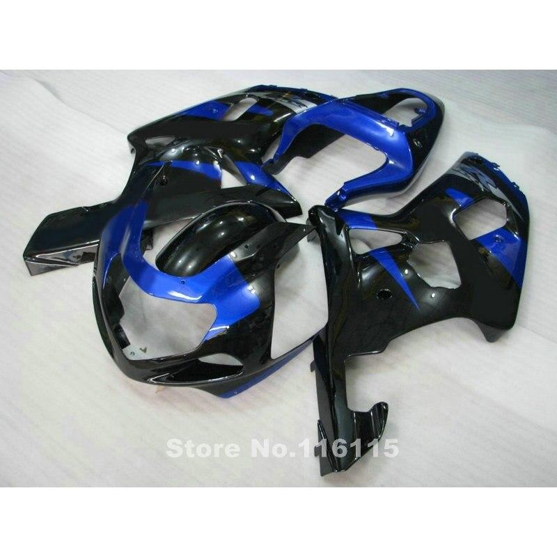 fairings set for SUZUKI GSXR 600 750 K1 2001 2002 2003 blue black fairing kit GSXR600 GSXR 750 01 02 03 bodywork GT37 injection molded fairing kit for honda cbr 600 f4i fairings 2001 2002 2003 blue movistar bodywork set cbr600 01 02 03 td25