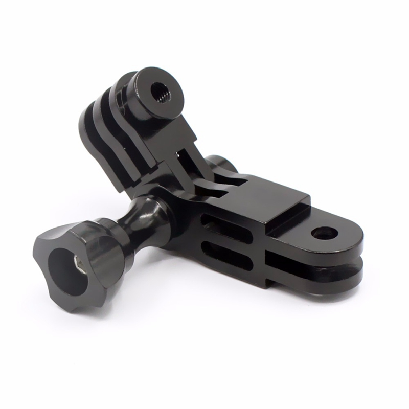 CNC Aluminium Alloy Three-Way Pivot Arm Mount Adapter For GOPRO Hero 1 2 3 3+ 4 5 Session/Xiaomi Yi/SJ/GitUp Sport Camera Blac