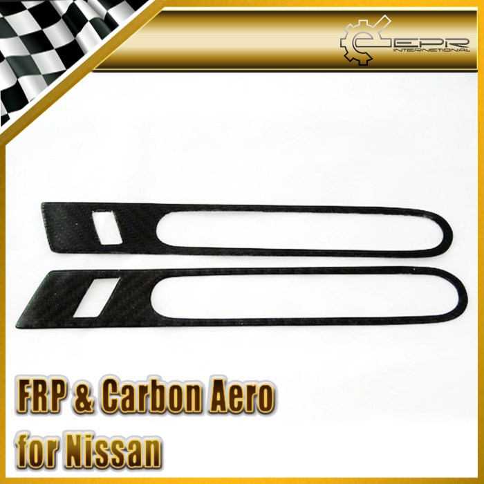 Car-styling For Nissan R35 GTR Carbon Fiber OEM Outer Door Handle Cover Pull Surround Side Garnish frp fiber glass car styling hood bonnet lip chin valance fin add on tuning parts for nissan skyline r32 gtr gts
