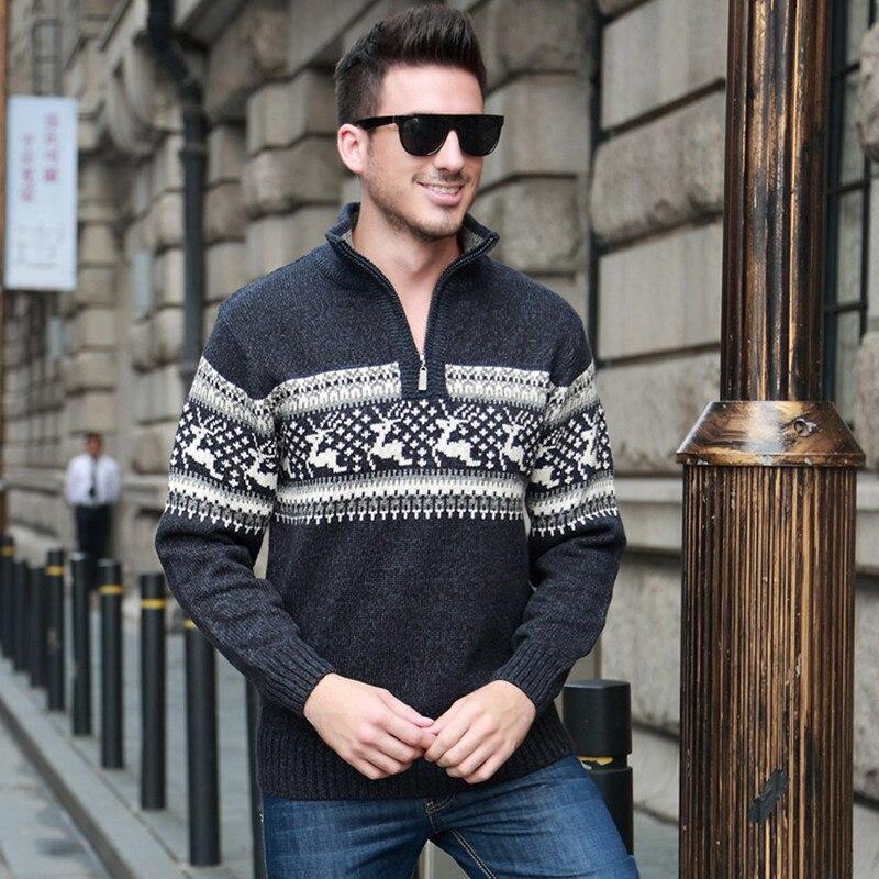 Chandails pour hommes fermeture éclair vêtements pour hommes des fabricants chandail à tricoter