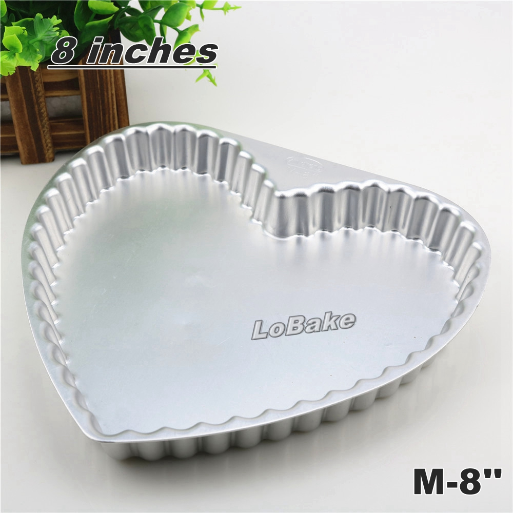 8 inches solid aluminium alloy heart shape pie pan pizza stone pancake cheesecake flan mold tart tin for DIY bakery accessories-in Cake Molds from Home ... & 8 inches solid aluminium alloy heart shape pie pan pizza stone ...