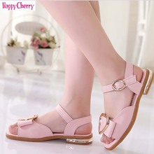 Happy Cheey 2019 New Summer Baby Girl Sandals Princess Shoes Non-slip Kids PU leather Beach Sandal shoes Soft Open toe girls shoes kids baby elegant crystal hollow princess shoes sandals baby sandalias kids pu sandal for girl summer shoes