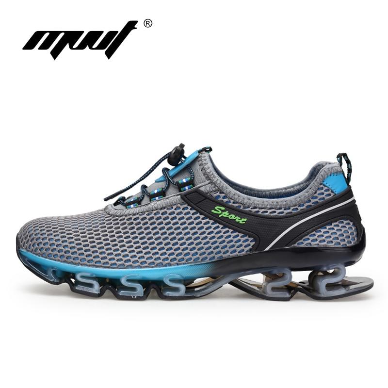 US $18.54 49% OFF|Super fajne oddychające buty do biegania męskie trampki odbijają terenowe buty sportowe na lato szkolenie zawodowe buty Plus rozmiar