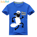 Jiuhehall Cartoon Sheep Print T-Shirts For Boy Girl 2017 New T-Shirts Fo Children Short Sleeve Kids Tee Tops 7 Colors ACM075