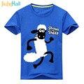 Jiuhehall Ovejas de Dibujos Animados de Impresión Camisetas Para Chico Chica 2017 Nuevo camisetas de los niños cabritos de la manga corta tee tops 7 colores ACM075