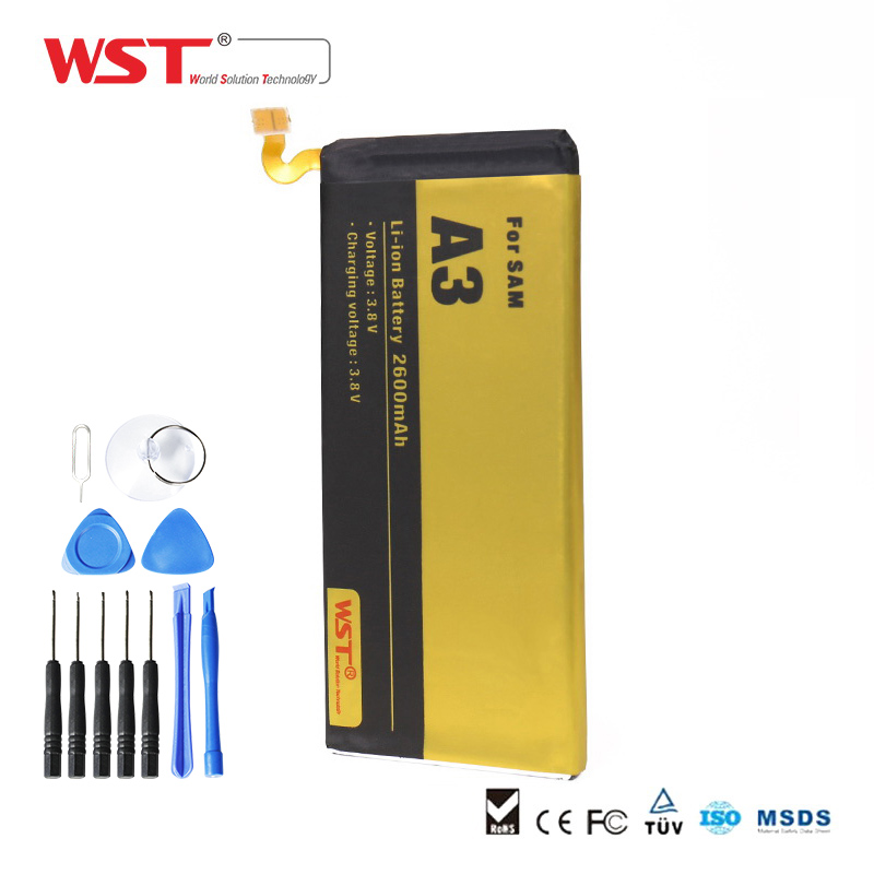 WST Brand Replacement Battery Mobile Phone Battery for Samsung A3 A300 A3000 A3009 A300F A300H Batterie