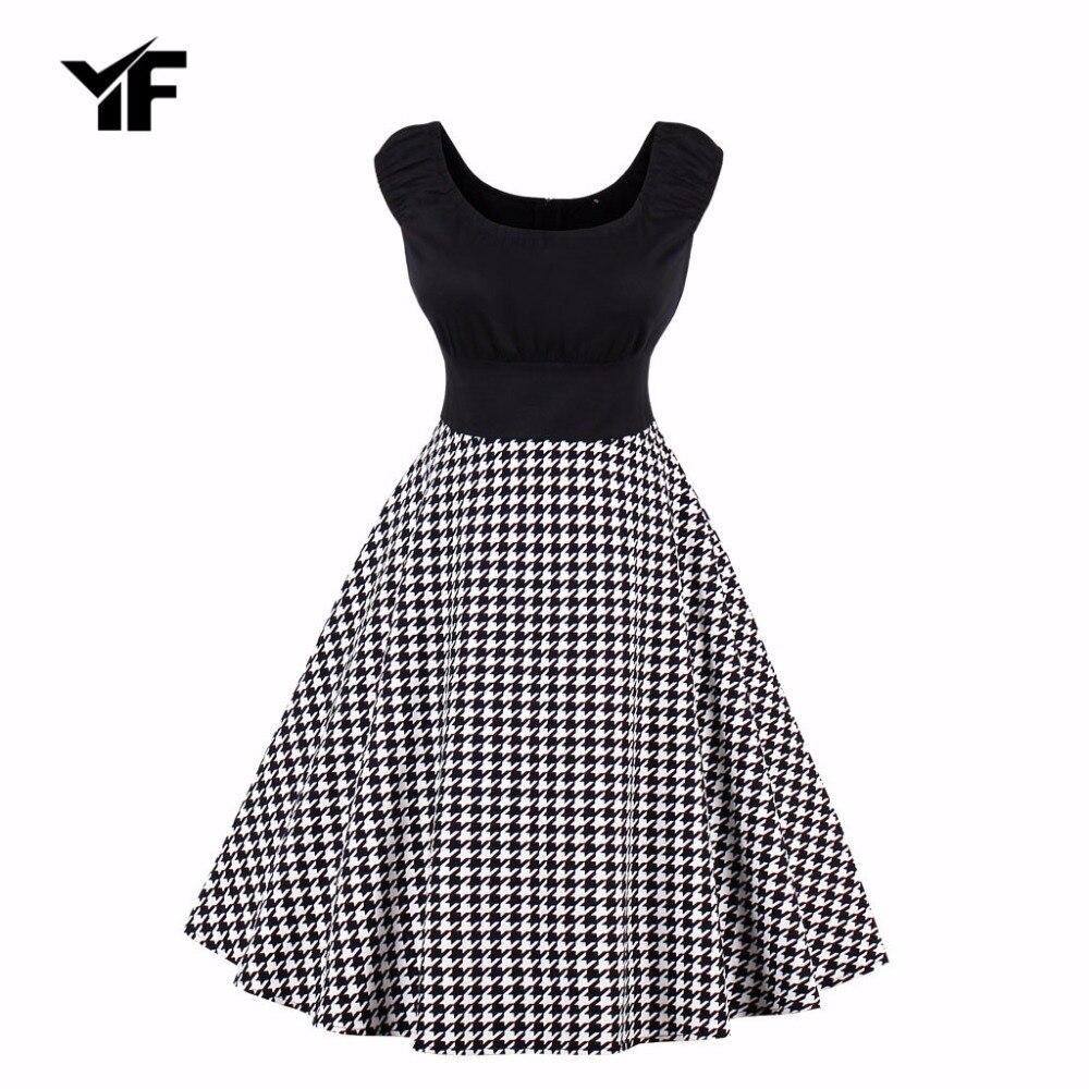 YF Women Dress Audrey Hepburn 50s Vintage butterfly dress Robe Retro Swing Rockabilly Dress Vestidos Plus Size Dress