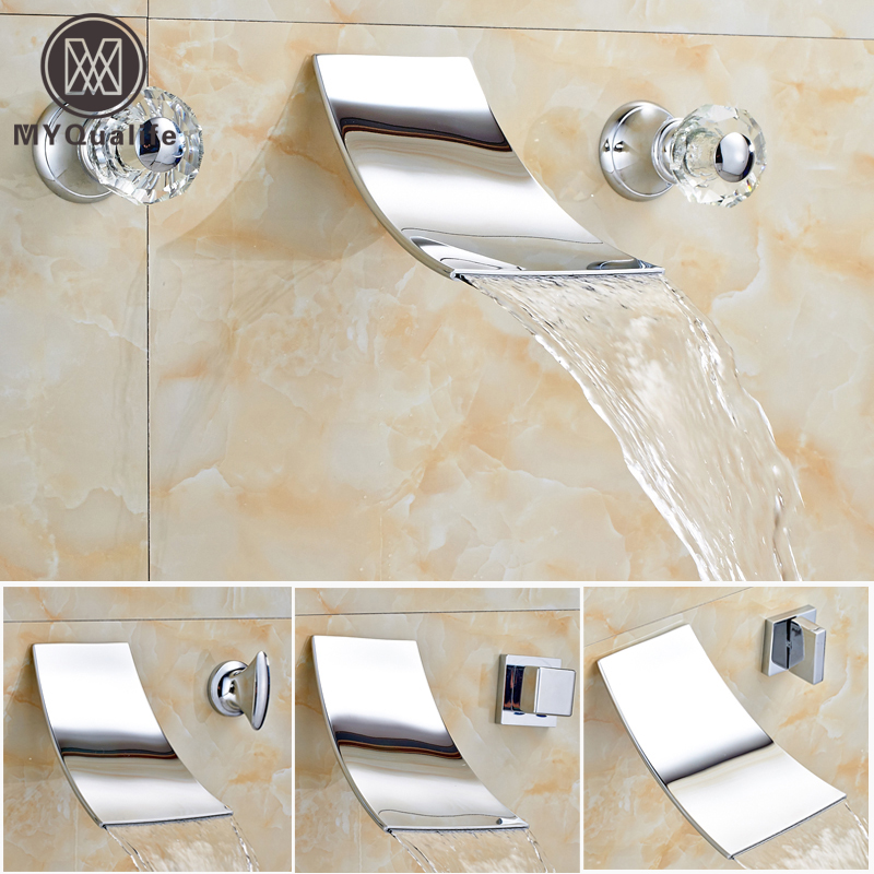 Wholesale and Retail Bathroom Wall Mount Basin Faucet Dual Handle Chrome Waterfall Basin Sink Mixer Taps pastoralism and agriculture pennar basin india