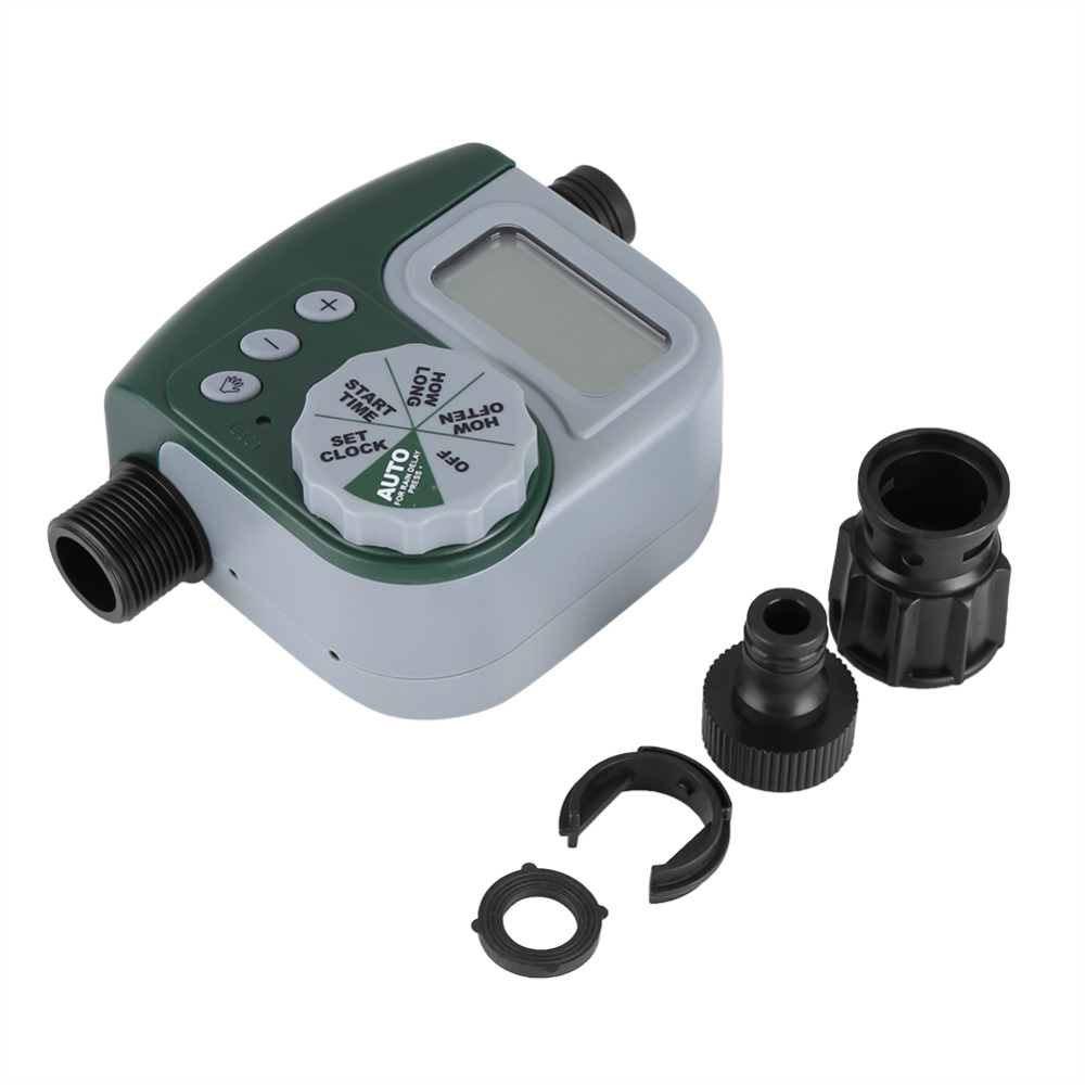 Digital Garden Water Timer Automatic Watering Irrigation System Controller G3/4 Connector Garden Irrigation Tools Accessories neje zj0025 3 electronic auto water timer watering irrigation system controller green yellow