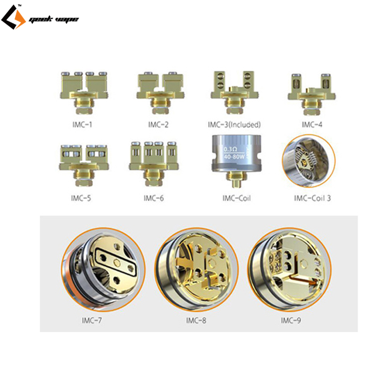 100% Original IJOY Interchangeable Gold-Plated Building Deck IMC-1/2/3/4/5/6/7/8/9 IMC-Coil/3 for Limitless RDTA Classic Edition
