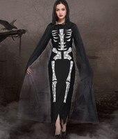 CrossBones disfraces cosplay for women Halloween canival Skullcandy Dress and Cloak Cosplay fancy ball fantasia costume