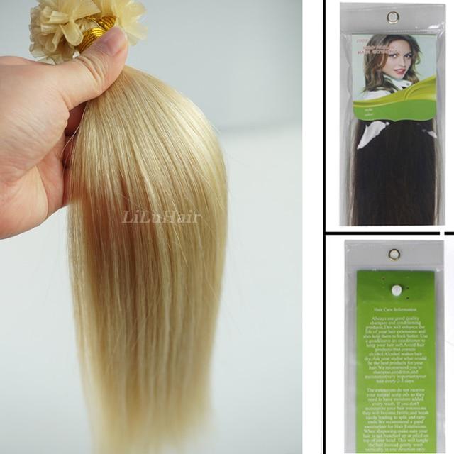 16 18 20 22 26 Pre Bonded Nail U Tip Keratin Glue Hair