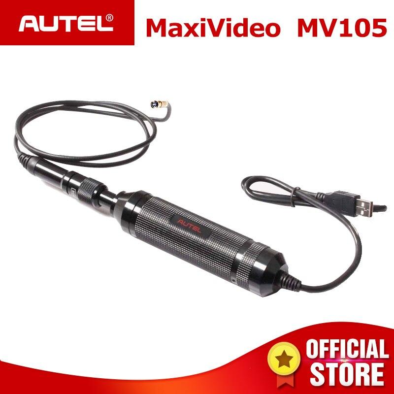 Autel MaxiVideo MV105 Numérique Caméra D'inspection 5.5mm Diamètre HD Étanche Inspection Vidéo Portée pour Autel Maxisys ou PC