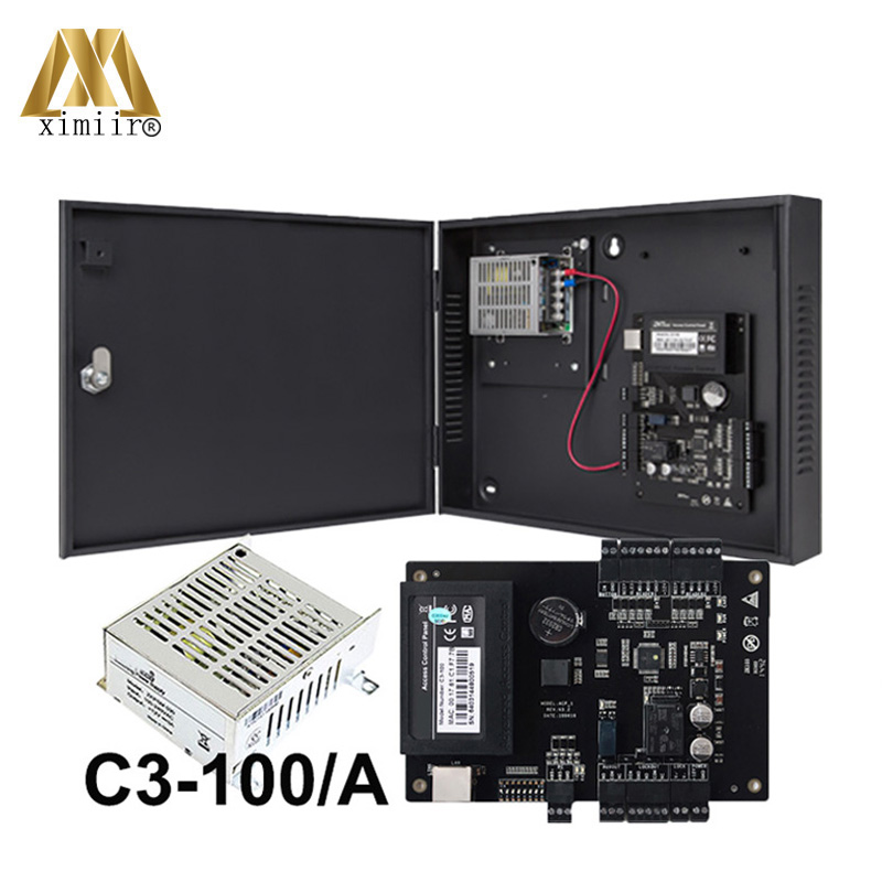 Good Quality TCP/IP One Door Access Control Board Linux System 12V5A Power Supply Case C3-100/A Control Panel