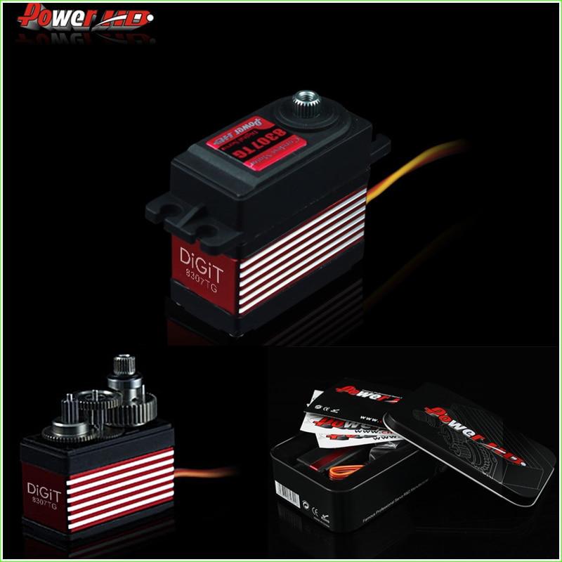 ФОТО Power HD 8.5kg/ 57g 0.08s High Torque Sports Digital Servo HD-8307TG W/ 7075 Titanium Gears for 1/10 Racing Car, 500-600 Helicop