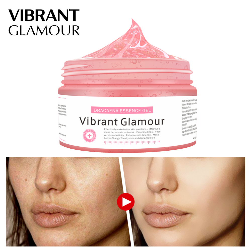 VIBRANT GLAMOUR DRACAENA ESSENCE GEL Face Mask Cleaning Ant Aging Skin Care Depth Replenishment Pigmentation Corrector Cream