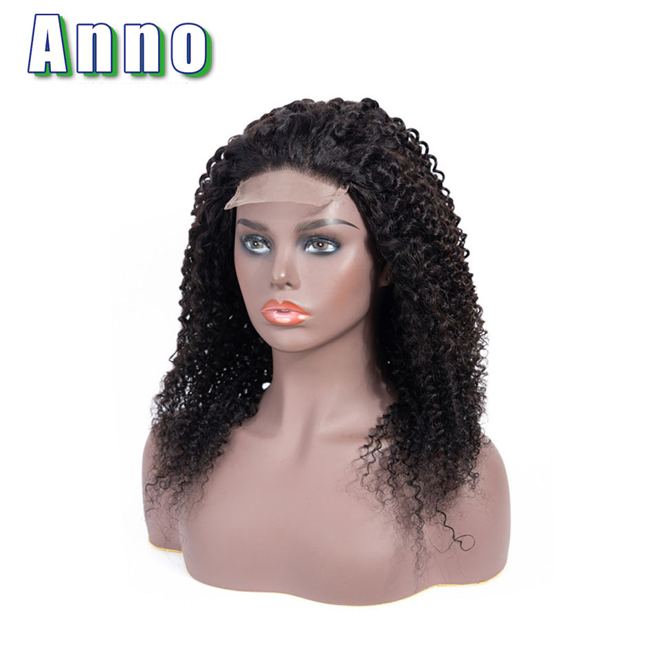 Anno Hair Curly Human Hair Wigs 10 22 Long Hair 4x4 Size Lace Frontal Non Remy