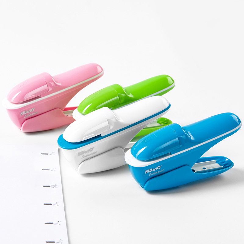 Creative Colorful Hand-Held Effortless Stapler Without Staples Paper Staple Free Stapler School Accessories Office Stationery creative hot mini stapler safe staple free stapler 10 sheets office paper binding stapleless stapler without staple