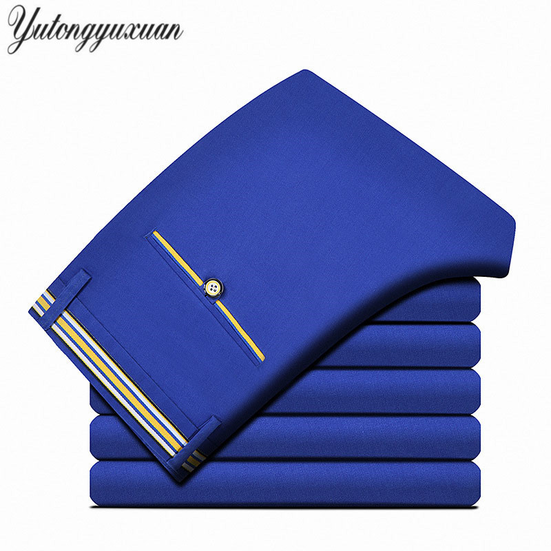 2017 Spring Casual Business Pants Men Fashion Slim Fit Trousers Zipper Fly High Quality  ...