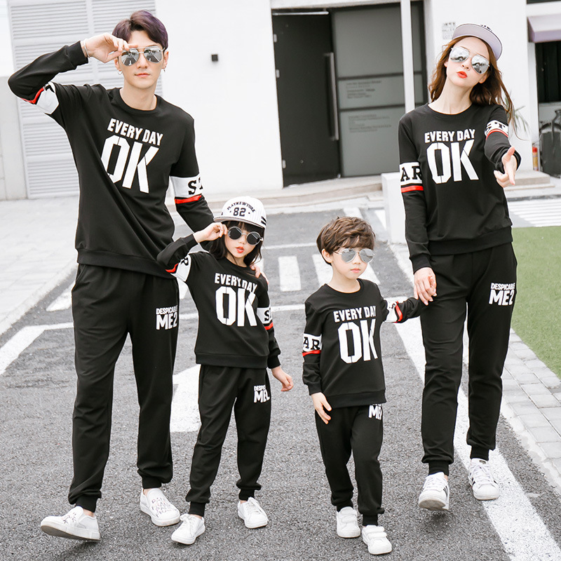 Family Matching Clothing Sets Sweatshirt Christmas Sweaterspants Street Wear Mommy And Me Clothes Family Matching Outfits In Matching Family Outfits