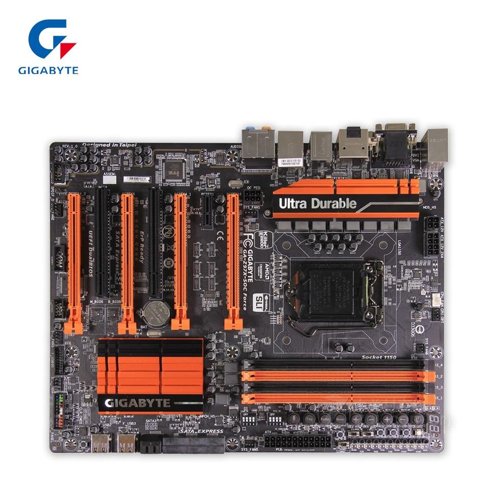 Gigabyte GA-Z97X-SOC Force Original Used Desktop Motherboard Z97X-SOC  Z97 LGA 1150  DDR3 64G SATA3 USB3.0 ATX проц amd soc a