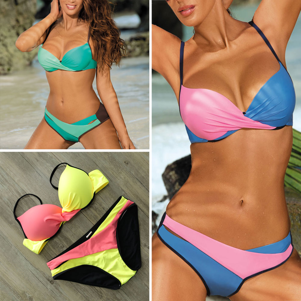 Sexy Bikinis Set Women Swimsuit 2018 Push Up Swimwear Female Vintage Summer Beach Wear Biquinis Swimming Retro Bathing Suit Swim kayvis 2017 new bikinis women swimsuit retro push up bikini set vintage plus size swimwear bathing suit swim beach wear 3xl
