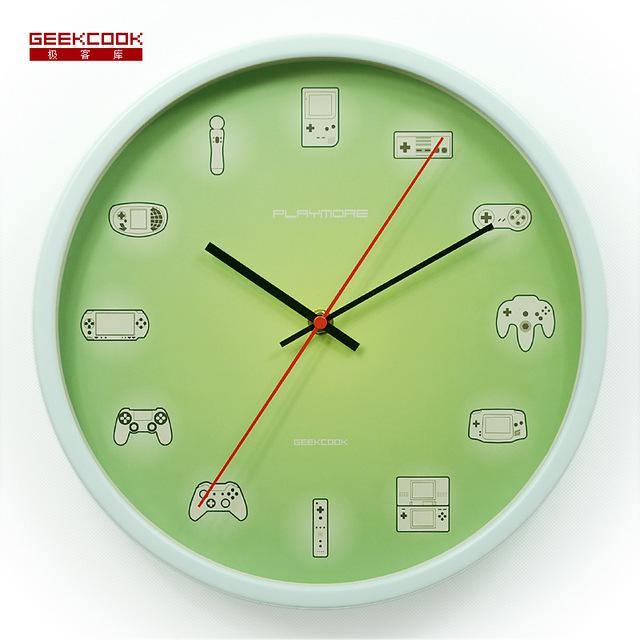 30CM Wall Clock Saat Clock Metal Duvar Saati Horloge Murale relogio de parede decorativo Digital Living room Wall Watch Klok