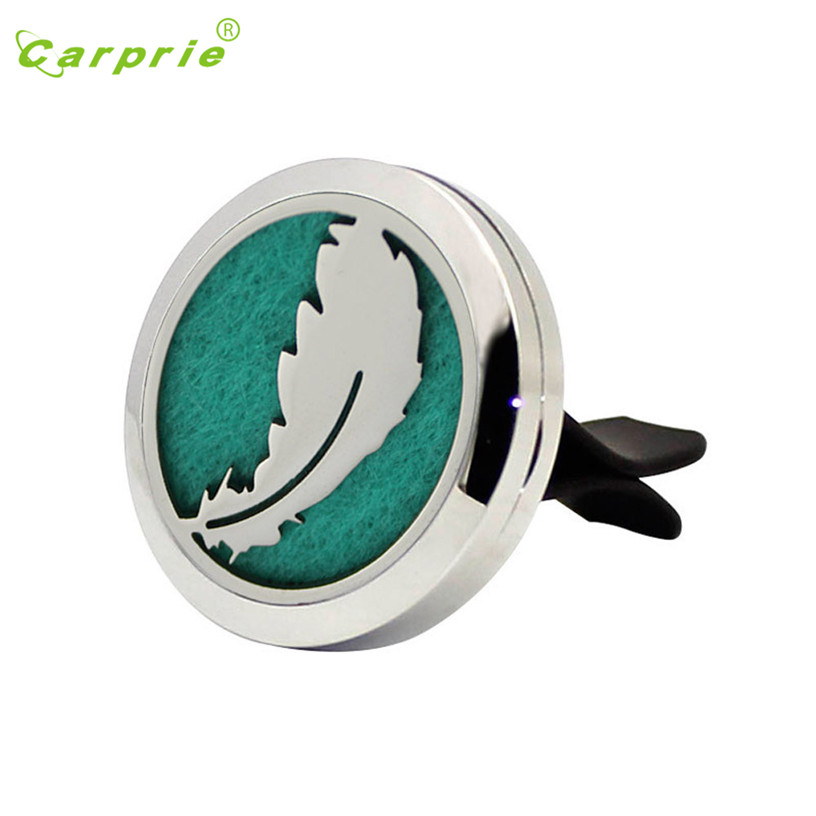 Dropship Hot Selling Feather pattern Stainless Car Air Auto Vent Freshener Essential Oil Diffuser Gift Locket Decor Gift Aug 15