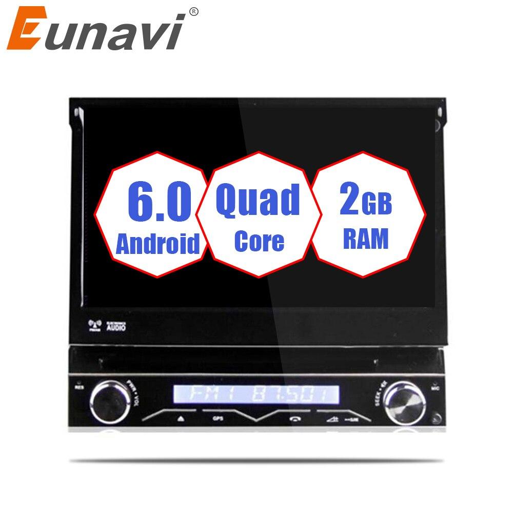 Eunavi Universel 7 1 Din 2g RAM Android 6.0 Quad Core Voiture DVD Radio Stéréo GPS Navigation Avec WIFI commande Au Volant