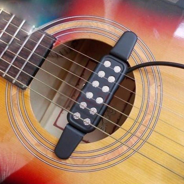 Easy To Use Electric Guitar Pickup Audio Transducer Clip On Acoustic