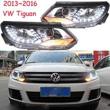 تصفيف السيارة ل تيجوان العلوي 2009 ~ 2012/2013 ~ 2015 تيجوان LED مصباح إضاءة يثبت على الرأس DRL ثنائية زينون عدسة العلوي عالية منخفضة شعاع وقوف السيارات